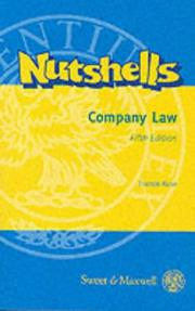 Cover of: Company Law (Nutshells) | Francis D. Rose