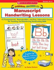 Cover of: Manuscript Handwriting Lessons | Kama Einhorn