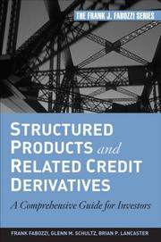 Cover of: Structured Products and Related Credit Derivatives | Frank J. Fabozzi