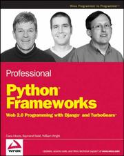 Cover of: Professional Python Frameworks | William Wright
