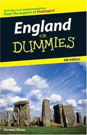 Cover of: England For Dummies | Donald Olson