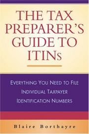 Cover of: The Tax Preparer's Guide to ITINs | Blaire Borthayre