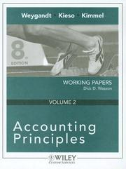 Cover of: Accounting Principles 8th Edition Working Papers Volume 2 for Queensborough Community College | Jerry J. Weygandt