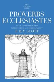 Cover of: Proverbs Ecclesiastes | R.B.Y. Scott