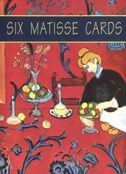 Cover of: Six Matisse Cards | Henri Matisse