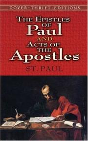 Cover of: The Epistles of Paul and Acts of the Apostles | St. Paul