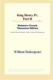 Cover of: King Henry IV, Part II by William Shakespeare