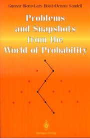 Cover of: Problems and snapshots from the world of probability | Gunnar Blom