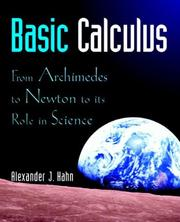 Cover of: Basic calculus | Alexander Hahn