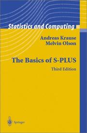 Cover of: The basics of S-Plus by Andreas Krause