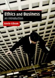 Cover of: Ethics and Business | Kevin Gibson