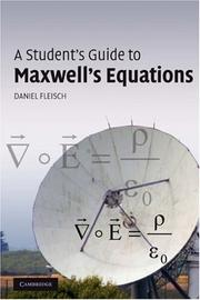 Cover of: A Student's Guide to Maxwell's Equations | Daniel Fleisch