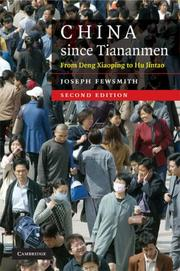 Cover of: China since Tiananmen | Joseph Fewsmith