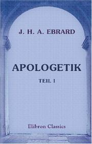 Cover of: Apologetik | Johannes Heinrich August Ebrard