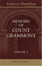 Cover of: Memoirs of Count Grammont | Anthony Hamilton