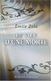 Cover of: Le Vu d\'une morte | Émile Zola