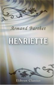 Cover of: Henriette by Armand Barthet