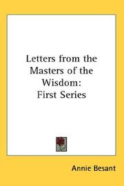 Cover of: Letters from the Masters of the Wisdom | Annie Wood Besant