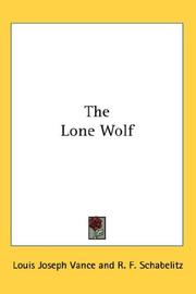 Cover of: The Lone Wolf by Louis Joseph Vance