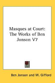Cover of: Masques at Court | Ben Jonson