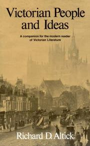 Cover of: Victorian People and Ideas | Richard D. Altick
