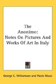 Cover of: The Anonimo | George C. Williamson