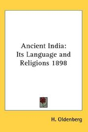 Cover of: Ancient India | H. Oldenberg