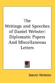 Cover of: The Writings and Speeches of Daniel Webster | Daniel Webster