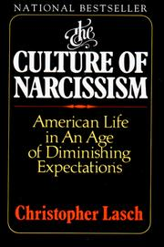Cover of: The Culture of Narcissism | Christopher Lasch