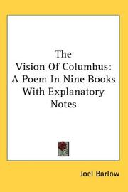 Cover of: The vision of Columbus | Joel Barlow