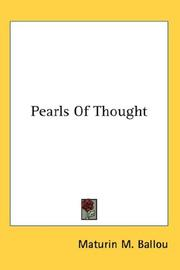 Cover of: Pearls Of Thought | Maturin M. Ballou