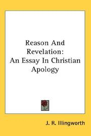 Cover of: Reason And Revelation by J. R. Illingworth
