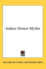 Cover of: Indian nature myths by Julia Darrow Cowles