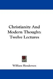 Cover of: Christianity And Modern Thought | William Henderson