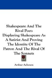 Cover of: Shakespeare And The Rival Poet | Arthur Acheson