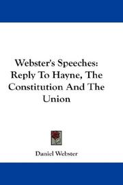 Cover of: Webster's Speeches | Daniel Webster