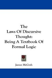 Cover of: The Laws Of Discursive Thought | James McCosh