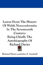 Cover of: Leaves From The History Of Welsh Nonconformity In The Seventeenth Century by Richard Davies of Welshpool