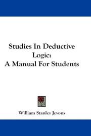 Cover of: Studies in deductive logic | William Stanley Jevons