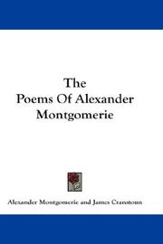 Cover of: The Poems Of Alexander Montgomerie by Alexander Montgomerie