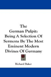 Cover of: The German Pulpit | Richard Baker