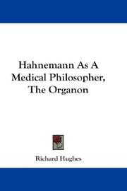 Cover of: Hahnemann as a Medical Philosopher by Richard Hughes