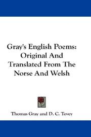 Cover of: Gray's English Poems | Thomas Gray