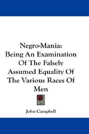 Cover of: Negro-Mania by John Campbell