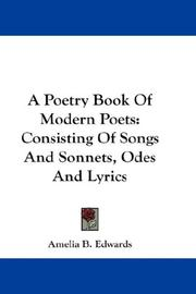 Cover of: A Poetry Book Of Modern Poets | Amelia B. Edwards