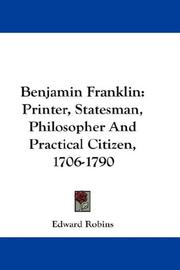 Cover of: Benjamin Franklin | Edward Robins
