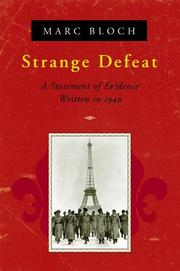 Cover of: Strange Defeat | Marc Bloch