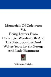 Cover of: Memorials Of Coleorton V2 | William Knight