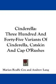Cover of: Cinderella by Marian Roalfe Cox