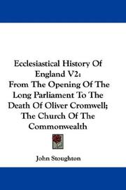 Cover of: Ecclesiastical History Of England V2 | John Stoughton